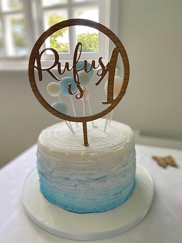 Personalised Hoop Cake Topper