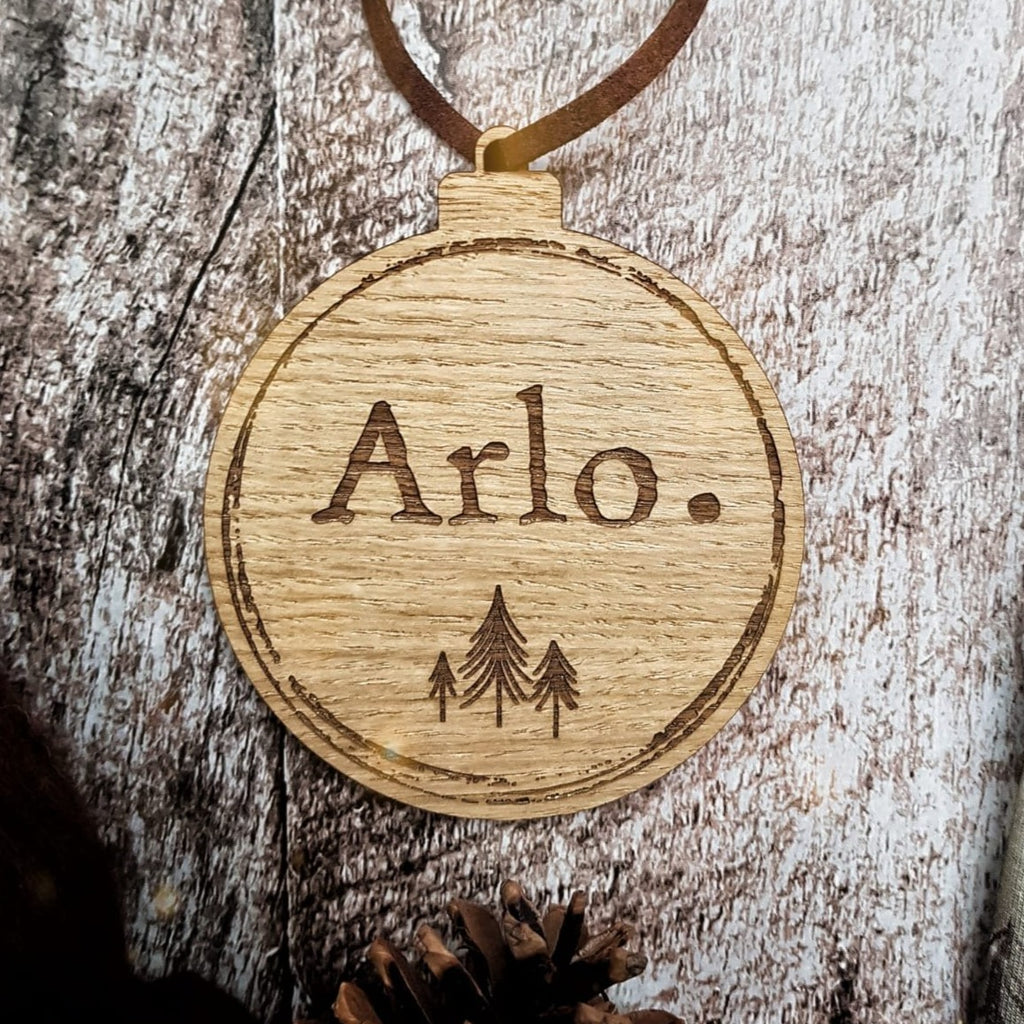 Personalised Wild Trees Bauble