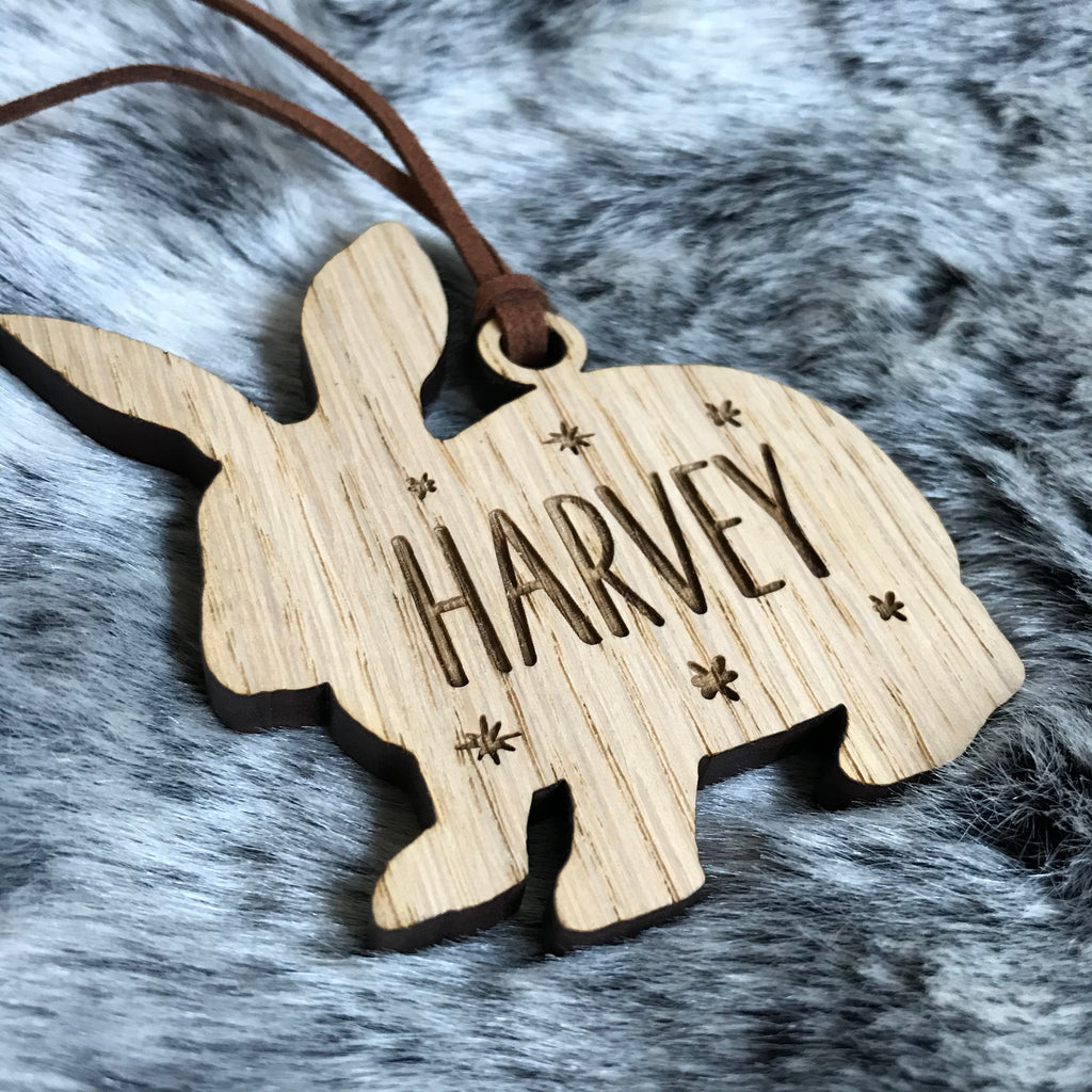 Personalised Rabbit Bauble