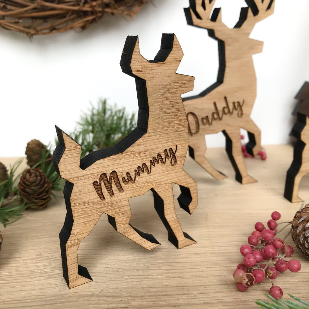 Personalised Reindeer/Stag/Deer Family