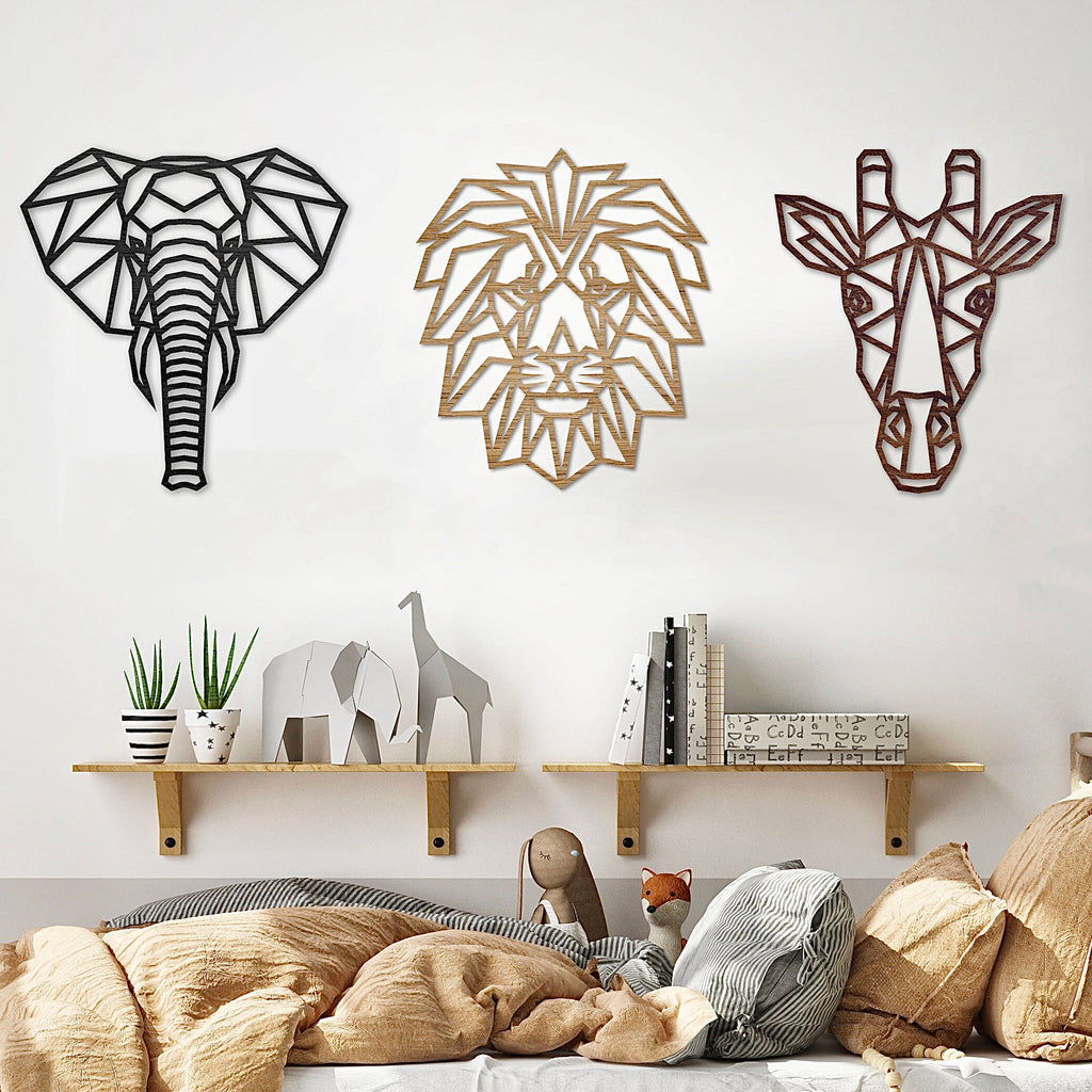 Geometric Safari Trio - Set of 3