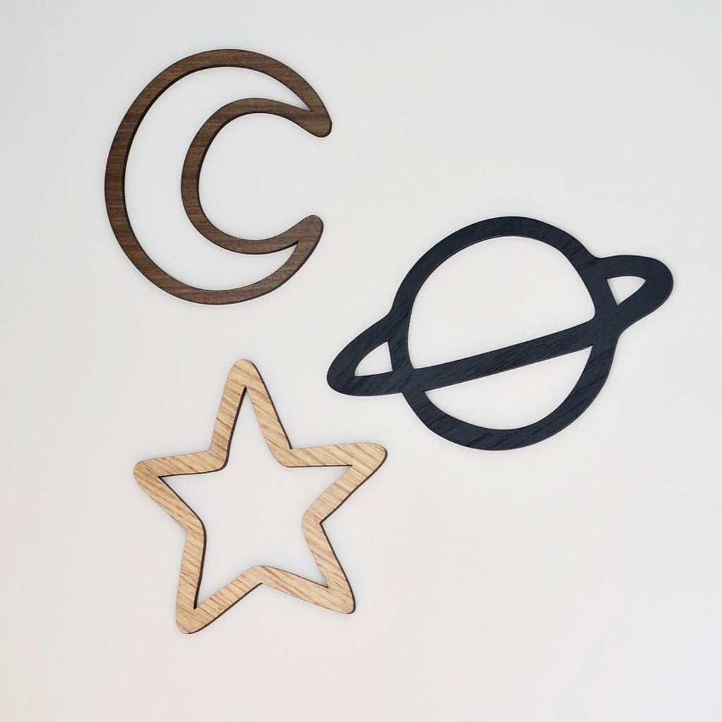 Space Set - Moon, Star, Planet