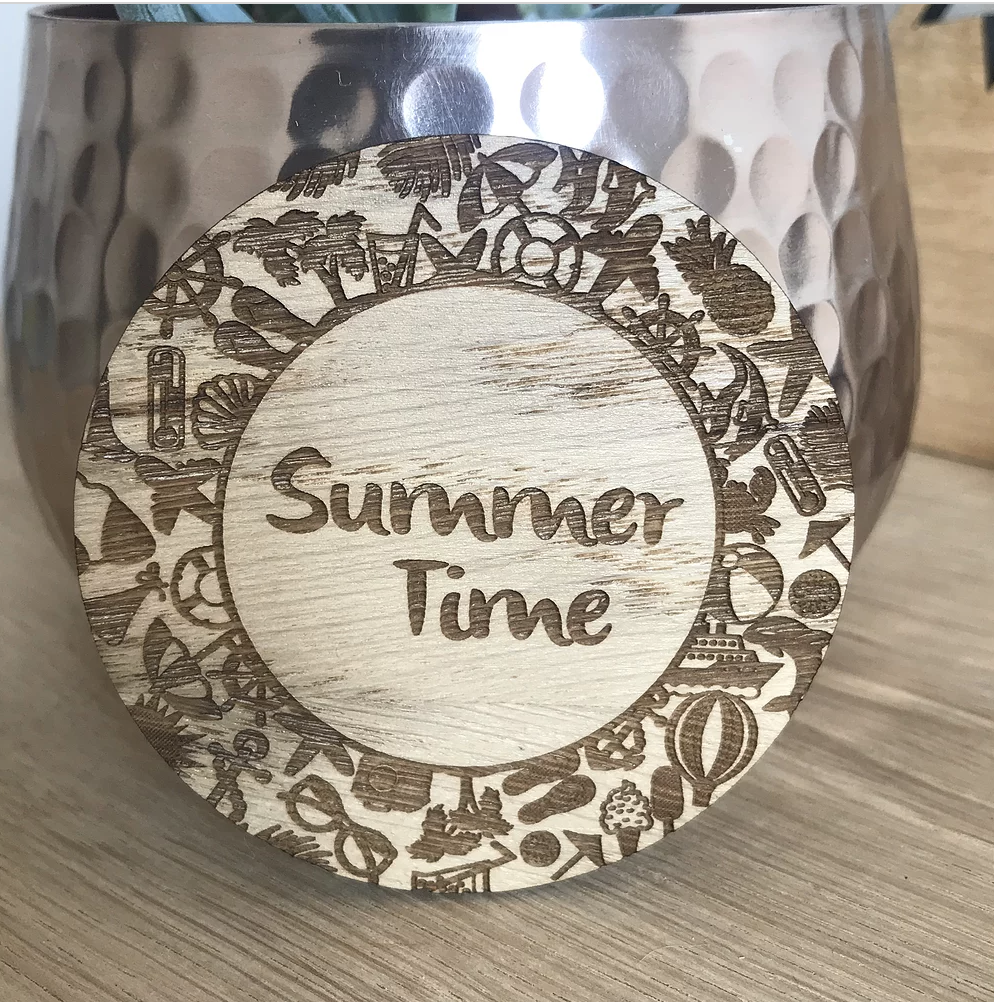 Summer time wooden disc