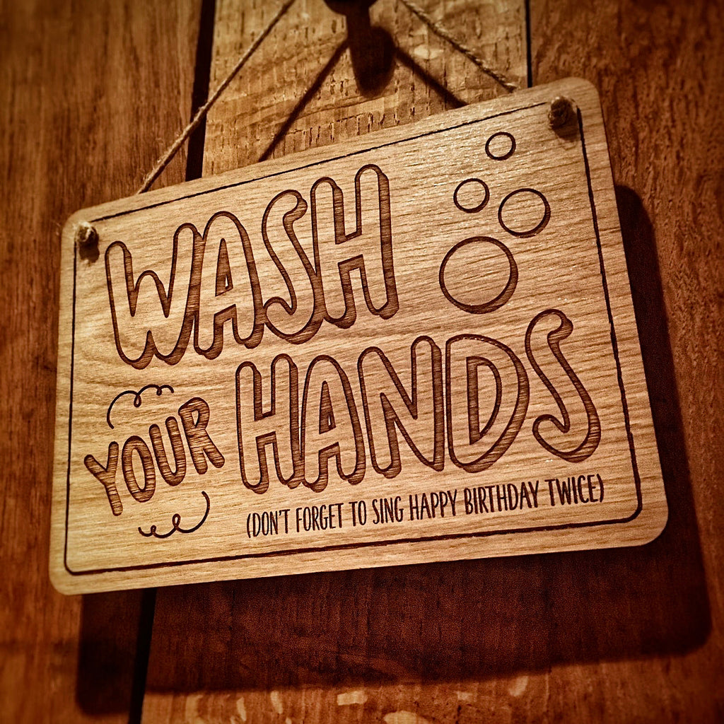 Wash Your Hands Plaque