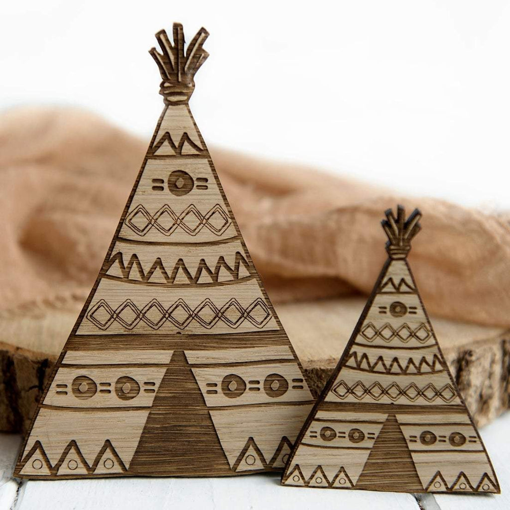 Tribal Wooden Teepee