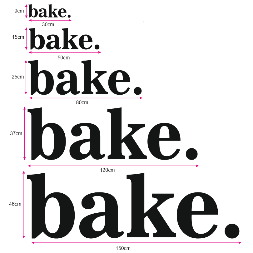 """bake."" - Wooden Wall Art"