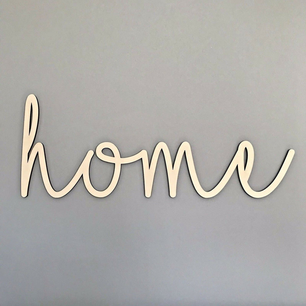 "Wooden ""home"" Wall Plaque"