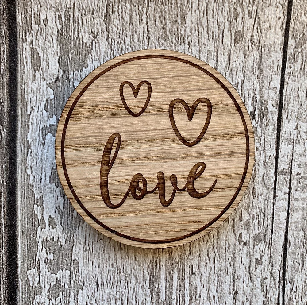 """Love"" wooden disc"