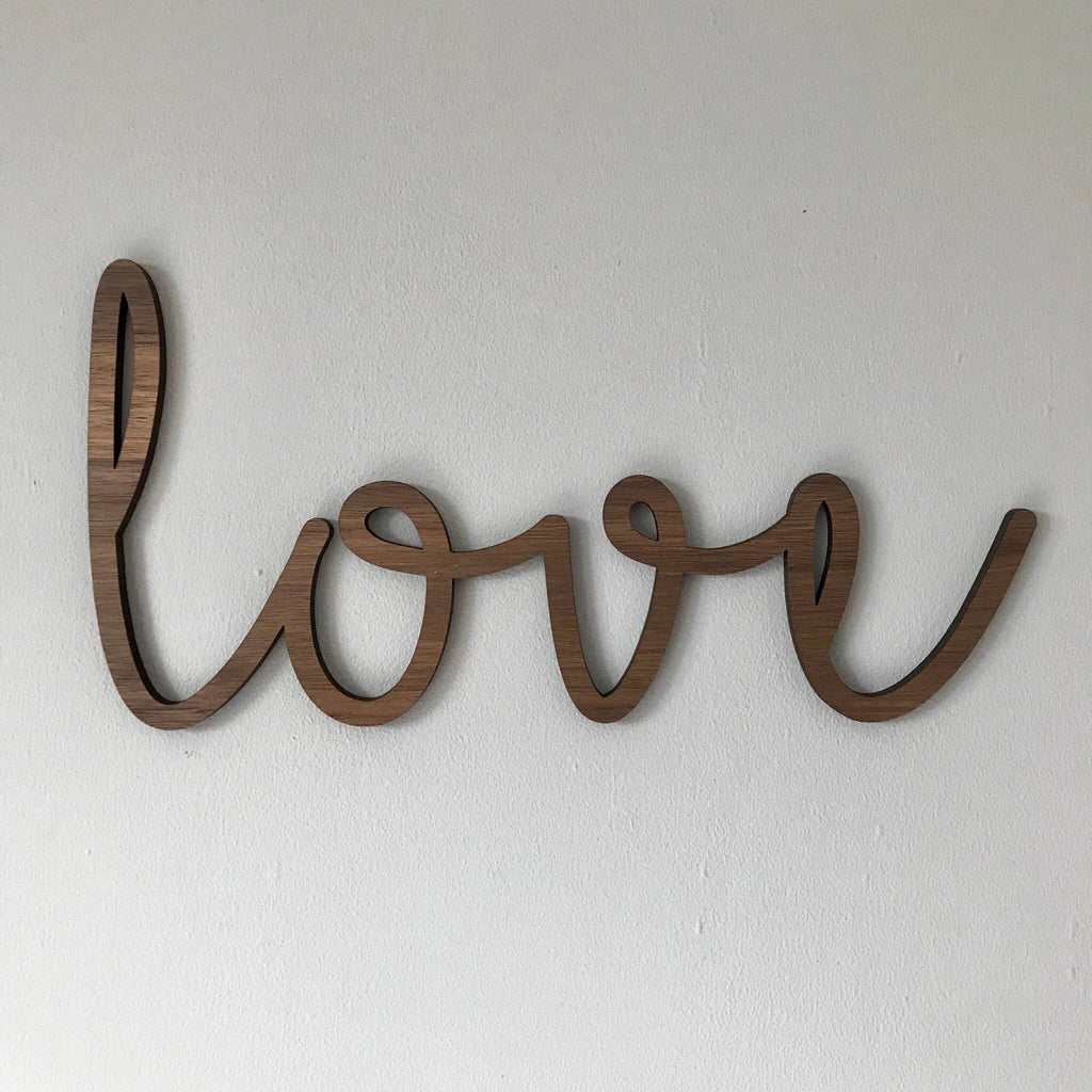 "Wooden ""love"" Wall Plaque"