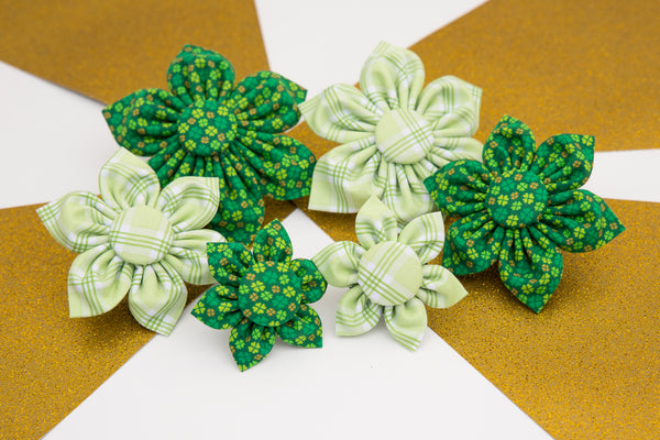 Dog Collar Flowers for St. Patricks Day by Cheerful Hound