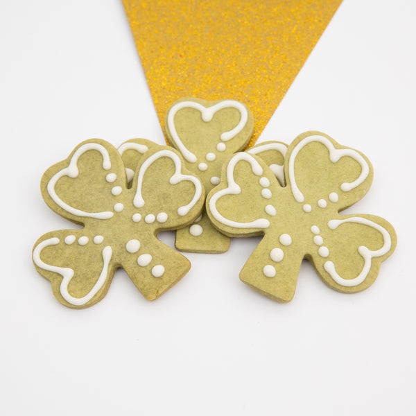 Limited Time: Shamrock Dog Cookies by The Cakehound dog bakery in Columbus, Ohio