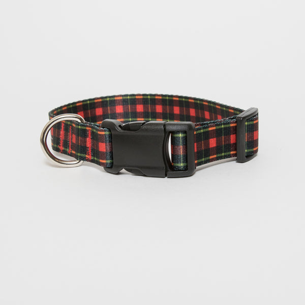 Black & Red Plaid Dog Collar