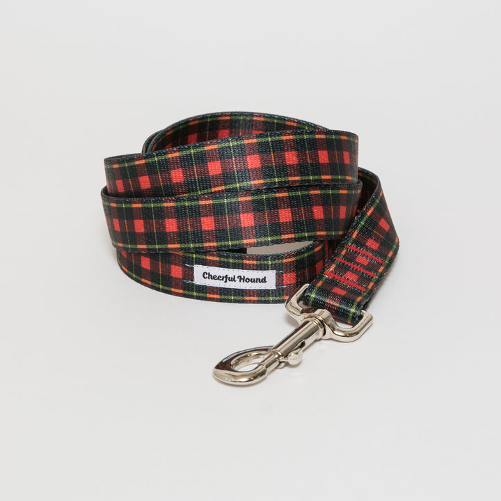 Black & Red Plaid Dog Leash