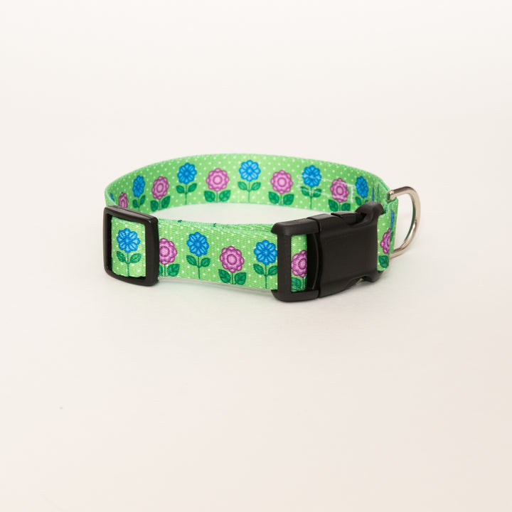 Cool Blooms Flower Dog Collar