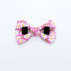 Pink Daisy Dog Bow Tie