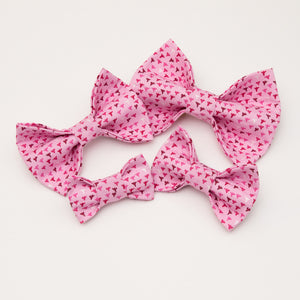 Pretty in Pink Dog Bow Tie