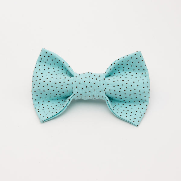 Speckles on Blue Dog Bow Tie