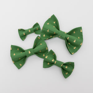 Golden Pine Tree Dog Bow Tie