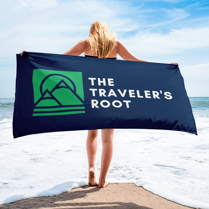 The Traveler's Root Beach Towel