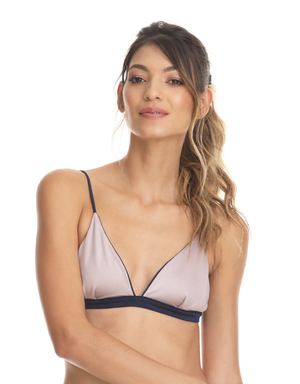 BLUE SOLID FIXED TRIANGLE TOP - Smeralda_swimwear_2019