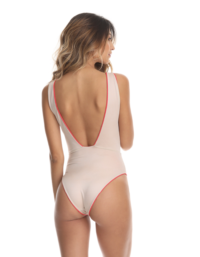 CORAL SOLID REVERSIBLE ONE-PIECE - Smeralda_swimwear_2019