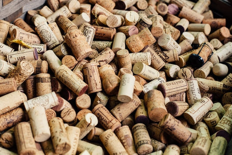 A mountain of corks