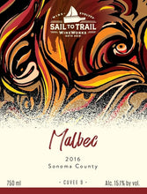 Load image into Gallery viewer, Our 2016 Sonoma Malbec bottle label.