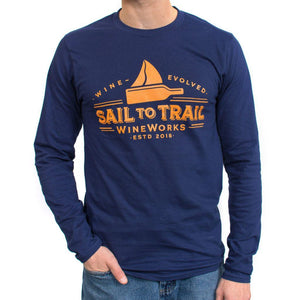 MEN'S LONG SLEEVED TEE - Sail to Trail WineWorks