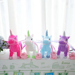 Vip Link Walking Unicorn Plush Toy Stuffed Animal Soft Toy Electronic Music Toy For Children Christmas Gifts Excellent In Cushion Effect Electronic Plush Toys