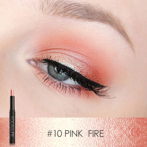 Smart Focallure Pro 12 Colors Eyes Makeup Liner Combination Eyeshadow Pencil Sticker Easy To Wear Long Lasting Shimmer Tools Eye Shadow