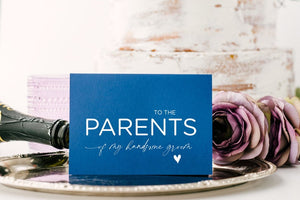 Cute Parents of the Groom Gifts, New in Laws Gift From Bride, Grooms Parents, Mom Dad Card, Wedding Gift Parents, To My Parents Wedding Day