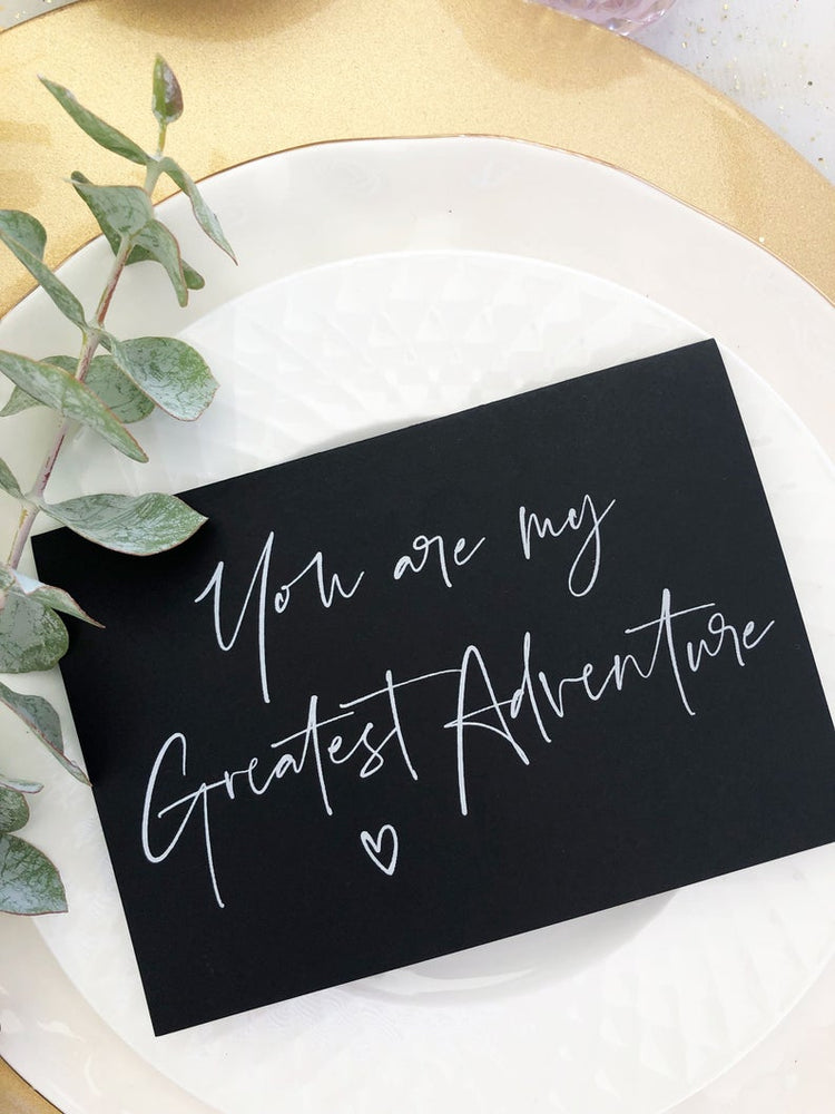 Black and White You Are My Greatest Adventure Wedding Day Card, Groom Gift From Bride, Groom Gifts, To My Husband On Our Wedding Day Gift BT