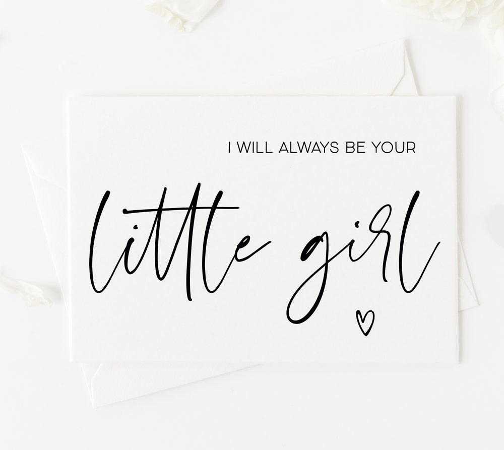 I will always be your little girl wedding gift for brides parents