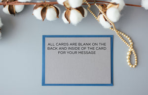 Grey and White Wedding MC Card, Mistress of Ceremonies Card
