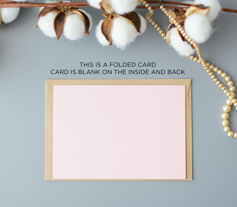 Blush Pink See You at the Altar Modern Wedding Day Card for Bride and Groom