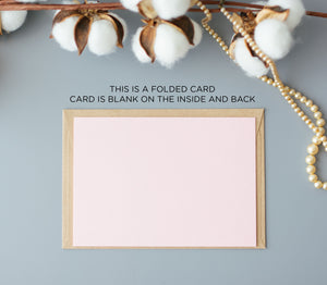 "Blush Pink ""To My Mother on My Wedding Day Card"" Mother of The Bride Card"