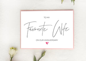 Cute Anniversary Card for Wife from Husband, Love Gift