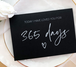 365 Days 1st Wedding Anniversary Card for Him