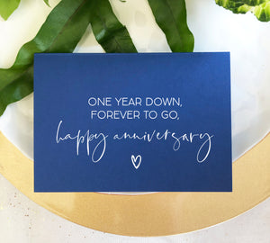 blue first anniversary card for boyfriend