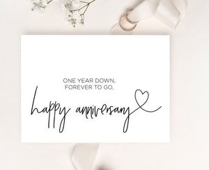 elegant wedding anniversary card