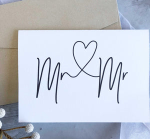Mr and Mr Engagement congratulations card