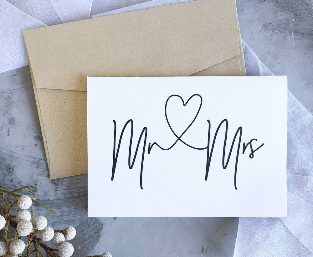 Mr and Mrs Wedding Engagement Congratulations card