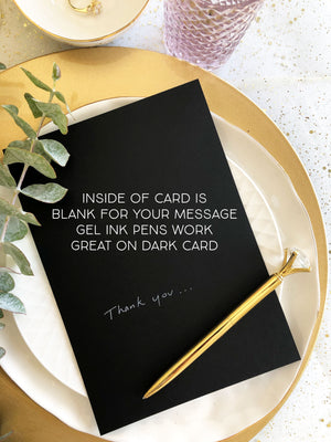 "Black and White ""You Are My Greatest Adventure"" Wedding Card"