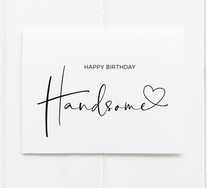 Cute Birthday card for handsome husband boyfriend from girlfriend  wife