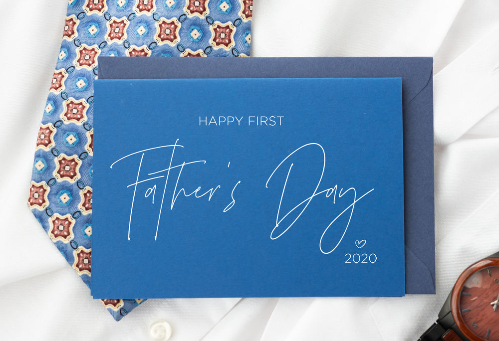 blu card for husband first fathers day gift