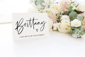 Load image into Gallery viewer, Custom Bride Wife Wedding dat Card from Groom Husband Gift