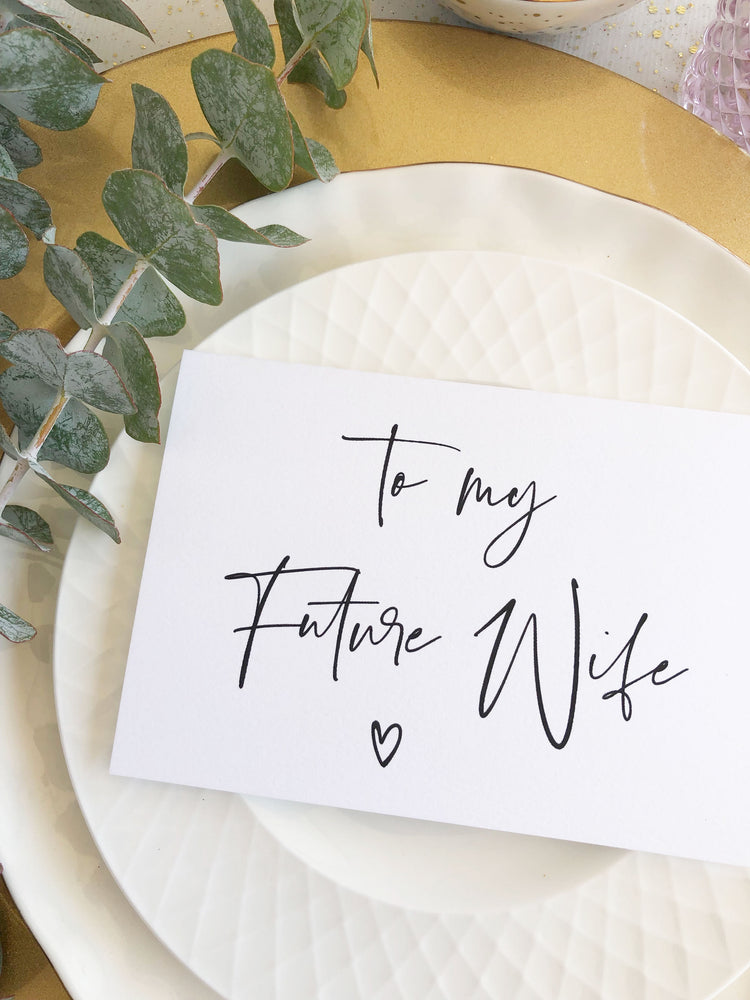 """To My Future Wife"" Wedding Day Card from Groom for Bride"