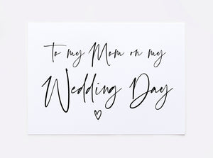 Load image into Gallery viewer, To My Mom on My Wedding Day Card for Mother of Bride Groom