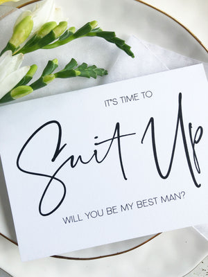 best man groomsman proposal asking request bridal party wedding party