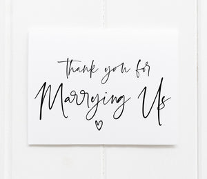 "Load image into Gallery viewer, ""Thank You For Marrying Us"" Thank You Card for Wedding Officiant"